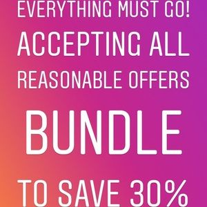 Accepting all reasonable offers Bundle to save 30%